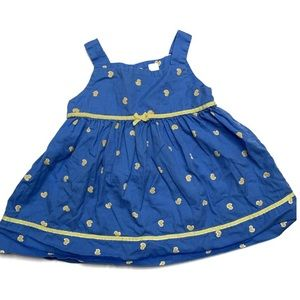 4 For $20 Carters 12 Months Blue Duck Print Dress
